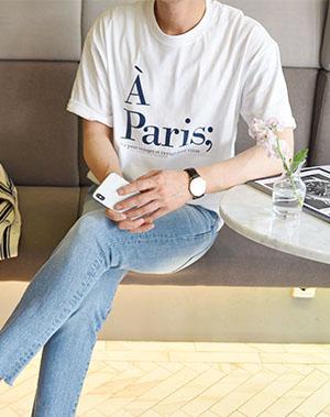 Paris A 반팔 티셔츠 (3color)